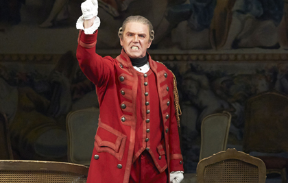 Anthony Michaels-Moore as Gérard in Giordano's <em>Andrea Chénier</em> at the Vienna Staatsoper, May 2014