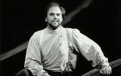 Anthony Michaels-Moore as The Foresterin Janáček's <em>The Cunning Little Vixen</em> at the Royal Opera House, Covent Garden, 1994