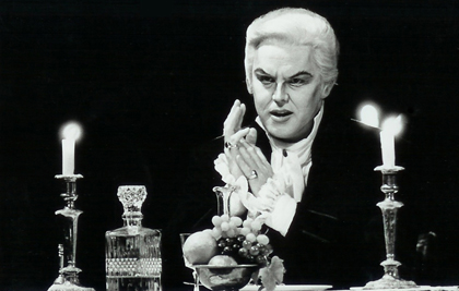 Anthony Michaels-Moore as Scarpia in <em>Tosca</em> at the Royal Opera House, Covent Garden, 1997
