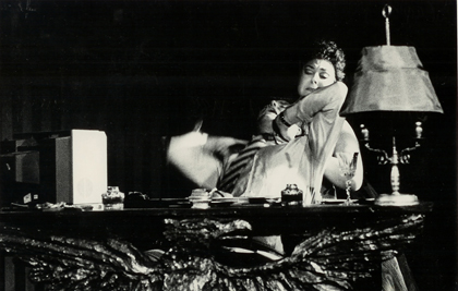 Anthony Michaels-Moore and Maria Moll in Puccini's <em>Tosca</em> with Scottish Opera Go Round, 1985