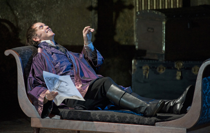 Anthony Michaels-Moore as Scarpia in Catherine Malfitano's production of Puccini's <em>Tosca</em>, 2012. Photo by Mike Hoban.